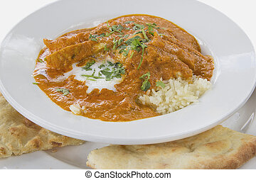 East Indian Butter Chicken Curry with Naan - East Indian...