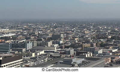 East Los Angeles from above - Aerial view of east Los...