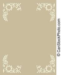east ornament on brown background, vector illustration