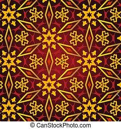East pattern. Vintage oriental ornament of mandalas. Template for carpet, shawl, wallpaper. Stylized rich medieval decor