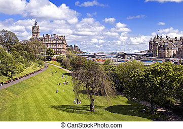 East Princes Street Gardens in Edinburgh, Scotland