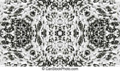 east retro cloud pattern, flower