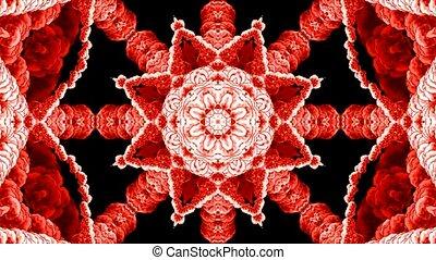 east retro flower pattern, religion