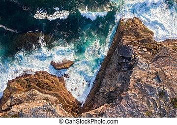 East Sydney headland cliffs coastline - The rocky coastline...