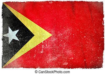 East Timor grunge flag
