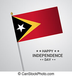 Guyana timor independence day flags infographic design