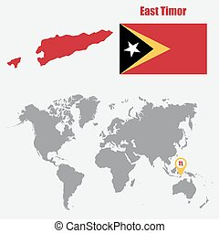 East Timor Map Map Of Democratic Republic Of Timorleste Eps - East timor seetimor leste map vector