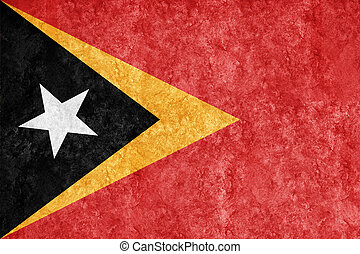 East Timor Metallic flag, Textured flag
