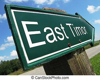 East Timor road sign