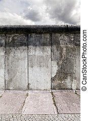 East-West Berlin Original Wall Section - View of a section...