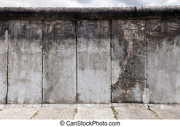east-west, berlin, oryginał, ściana, sekcja