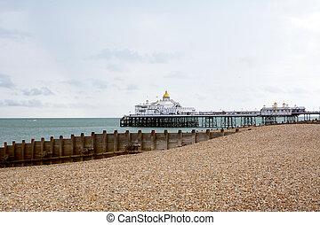 Eastbourne Pier on the southeast coast of England