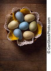 easter αβγό , επάνω , ξύλινος , φόντο