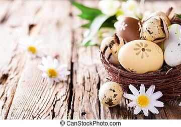 easter αβγό , επάνω , ξύλο