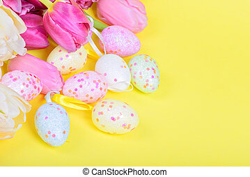 easter αβγό , και , ροζ , τουλίπα