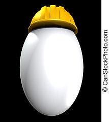 easter αβγό , ότι , έχει , ένα , ασφάλεια γαλέα , επάνω ,...