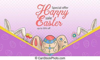 Easter 1 advertising banner special offer sale
