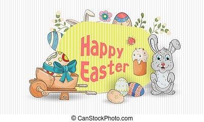 Easter 1 holiday banner for design design