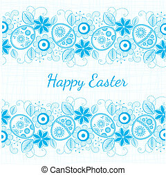 Easter 3 - blue background Easter motif, ESP 10