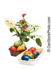 Easter Arrangement - Isolated On White Background