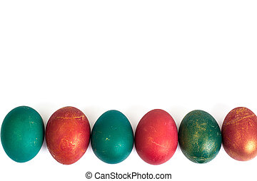 Easter attributes on a white background