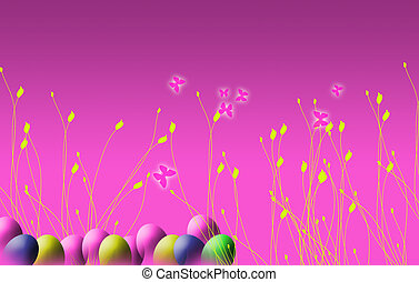 Easter Background - A landscape format image of an easter...