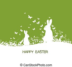 Easter background and rabbit