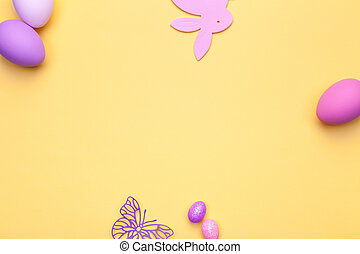 Easter Background - Easter background. Copy space. Top view
