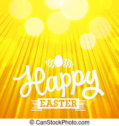 Easter Background - Easter background of orange color with...