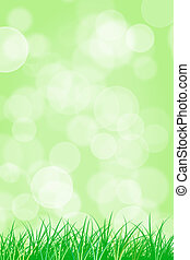 Easter background - Easter blurred green background
