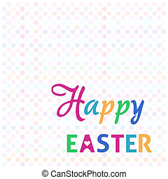 Happy easter background with colorful polka dot pattern
