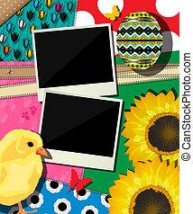 Easter background, scrapbook design