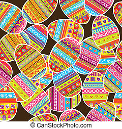 Easter background seamless pattern