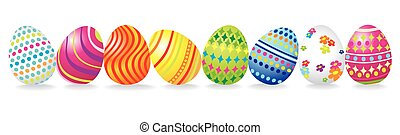 Easter background with a lot of eggs