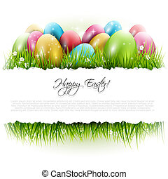 Easter background with copyspace - Easter background with...