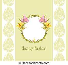 Easter background with crocuses