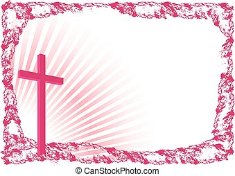 Easter background with cross