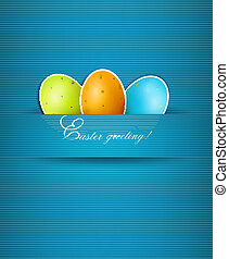 Easter background with eggs. Vector.