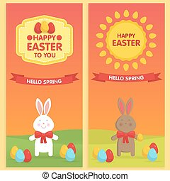 Easter Banner templates.