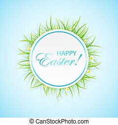Easter banner with grass