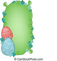 Easter banner with text field