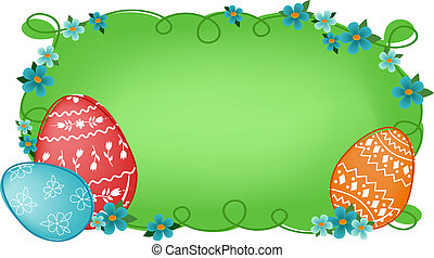 Easter banner with text field - Easter banner or greetings...
