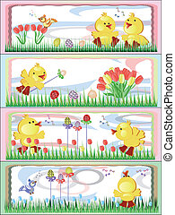 Easter, banners