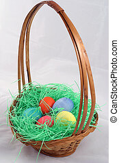 Easter Basket - a pretty wicker easter basket filled with...