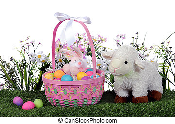 Easter Basket and Lamb