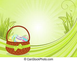 Easter basket and spring florals