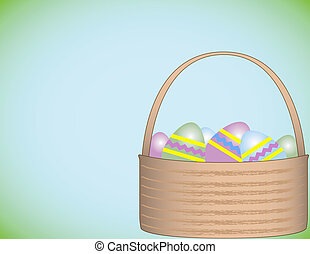 Easter Basket Background