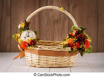 Easter basket decorated