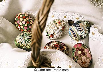 Easter basket   - easter eggs in the basket