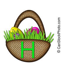 "Easter Basket H - The letter H, in the alphabet set ""Easter ..."